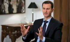 Presidente sírio Bashar al-Assad concede entrevista em Damasco Foto: JOSEPH EID / AFP