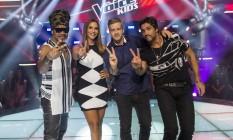 Técnicos. Carlinhos Brown, Ivete Sangalo, e a dupla Vitor e Léo Foto: TV Globo / TV Globo