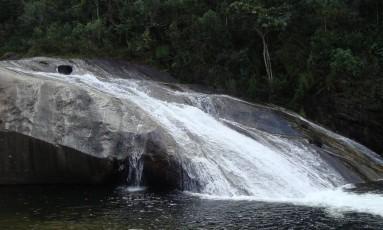 Cachoeira. Escorrega em Maringá, vizinha a Visconde de Mauá Foto: Divulgação / Divulgação/Booking.com