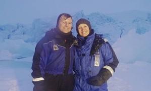 Sônia Bridi grava no Polo Norte para o 'Fantástico' Foto: DIVULGAÇÃO