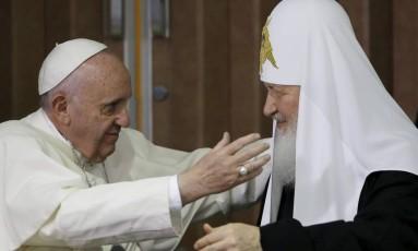 Encontro dos líderes religiosos encerrou quase milênio de Cisma Foto: Gregorio Borgia / REUTERS