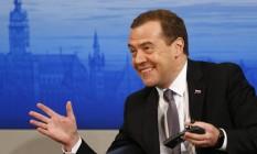Medvedev, na Conferência em Munique: elogio à aproximação das igrejas católica e ortodoxa russa Foto: Matthias Schrader/AP