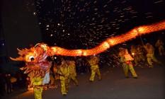 Celebração do Ano Novo Lunar em Neijiang, na província de Sichuan Foto: CHINA STRINGER NETWORK / REUTERS