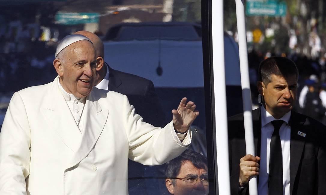 O Pontífice iniciou uma viagem de cinco dias no México, após se encontrar, em Cuba, com o Patriarca Kirill, da Igreja Ortodoxa Russa Pedro PARDO / AFP