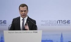 Medvedev alertou Europa contra pressão à Rússia Foto: Dmitry Astakhov/Sputnik / REUTERS