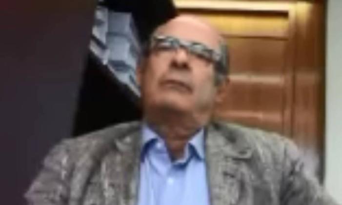 O lobista Fernando Moura, acusado de receber R$ 2,3 milhões de propina e de atuar na indicação de cargos comissionados na Petrobras Foto: Reprodução de vídeo