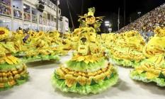 A Imperatriz Leopoldinense abriu a noite de desfiles na Sapucaí Foto: Agência O Globo/Fabio Rossi
