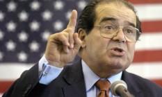 Scalia: nomeado por Reagan em 1986, ela era o juiz conservador mais influente da Corte Foto: Gavin Averill/AP