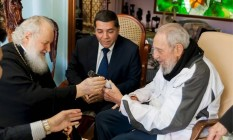 Fidel e Kirill encontraram-se na residência oficial do líder cubano em Havana Foto: Reuters