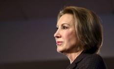 Ex-presidente da Hewlett-Packard, Carly Fiorina costuma ser apontada como exemplo entre as mulheres com destaque profissional Foto: Mary Schwalm/Reuters