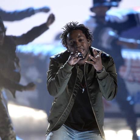 Kendrick Lamar, durante apresentação no Bet Awards em Los Angeles Foto: KEVORK DJANSEZIAN / REUTERS