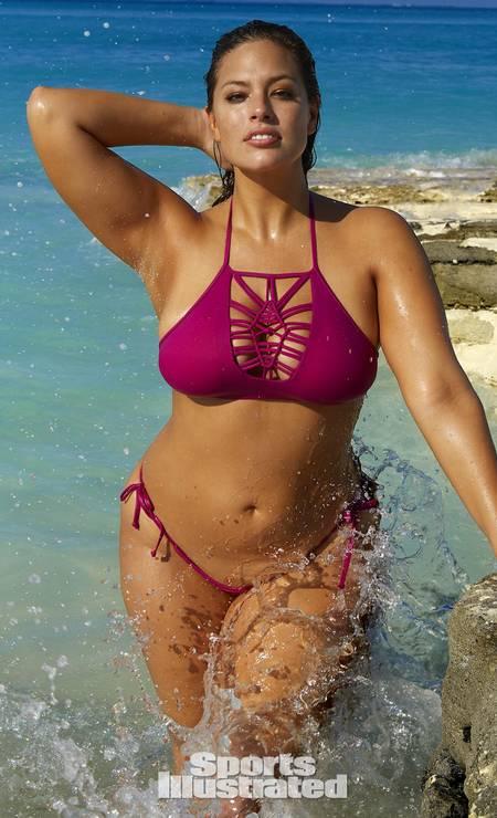 A modelo na ilha Turks e Caicos Foto: Divulgação