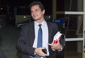 O juiz Sérgio Moro, responsável pelos processos da Operação Lava-Jato Foto: Paulo Lisboa / Agência O Globo