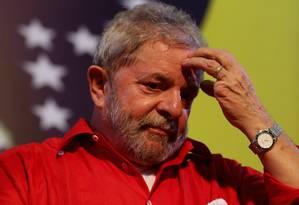 O ex-presidente Luiz Inácio Lula da Silva em março de 2015 Foto: Fernando Donasci / Agência O Globo / 31-3-2015