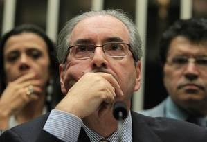 O presidente da Câmara, Eduardo Cunha (PMDB-RJ) Foto: Ailton de Freitas - 03/02/2016 / Agência O Globo