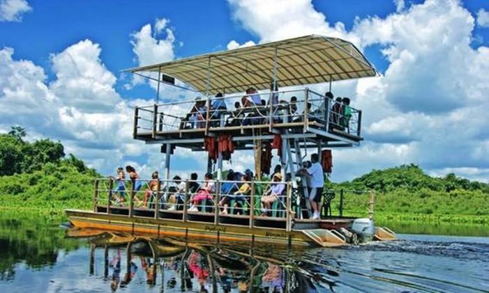 Passeio de barco pelo Pantanal Foto: Divulgação