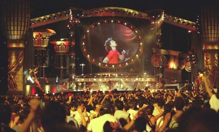 Show dos Rolling Stones em 1998 Foto: Arquivo O Globo
