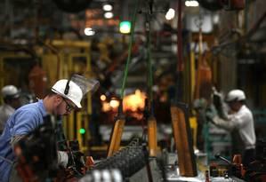 Indústria: fábrica da GM em São Caetano, São Paulo Foto: Dado Galdieri / Bloomberg