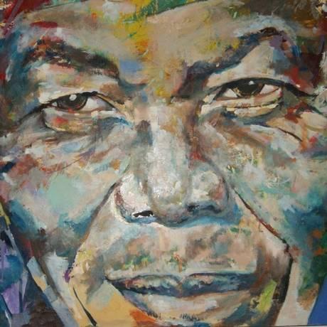 Madiba, tela do artista fluminense Casanova, vencedor do Concurso Nacional Artes do Exército Foto: Divulgação