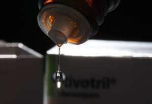 Rivotril, um dos medicamentos mais consumidos no Brasil Foto: Marcelo Carnaval / Marcelo Carnaval