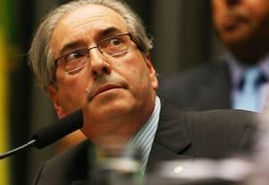 O presidente da Câmara, deputado Eduardo Cunha (PMDB-RJ) Foto: Ailton de Freitas / Agência O Globo / 18-2-2016