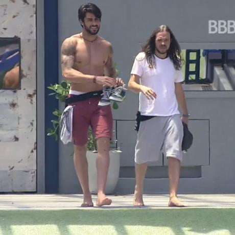Renan e Tamiel ganharam a liderança Foto: Reprodução - TV Globo