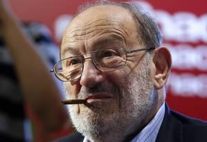 O escritor italiano Umberto Eco, morto no dia 19 Foto: FRANCOIS GUILLOT / AFP/FRANCOIS GUILLOT/12-5-2015