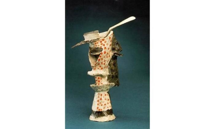Copo de absinto feito por Pablo Picasso Foto: Reprodução