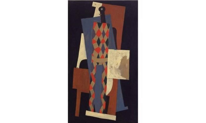 'Arlequim', pintado por Pablo Picasso em 1915 Foto: Reprodução