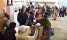 Índios Aymara votam em Huarina, a 75 km de La Paz Foto: AIZAR RALDES / AFP