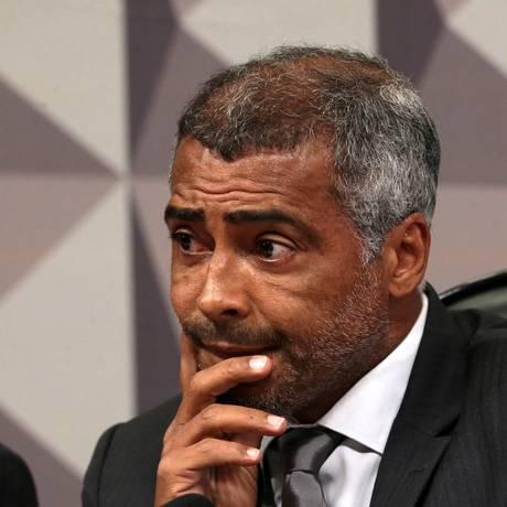 O ex-jogador e senador Romário (PSB-RJ) Foto: Ailton de Freitas / Agência O Globo