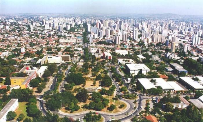 Vista aérea de Goiânia Foto: Reprodução