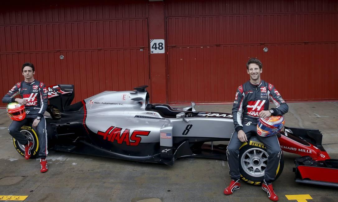 A americana Haas será a equipe estreante desta temporada. Ela terá o mexicano Esteban Gutierrez e o francês Romain Grosjean SERGIO PEREZ / REUTERS