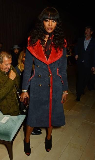 A supermodelo Naomi Campbell brilhou entre os convidados Dave Benett/Getty Images for Burberry