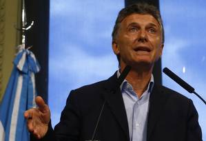 O presidente argentino, Mauricio Macri Foto: ENRIQUE MARCARIAN / REUTERS