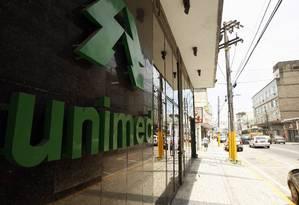 Fachada da Unimed-Rio Foto: Luis Alvarenga / Agência O Globo