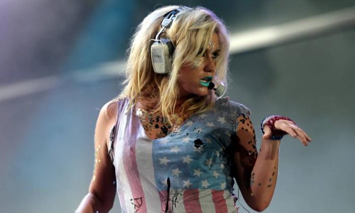 A cantora Kesha no Rock in Rio Foto: Marcelo Theobald / Agência O Globo