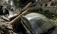 A forte chuva que caiu sobre a cidade na segunda-feira fez o Rio entrar em estágio de atenção. A cidade só voltou ao estágio de normalidade nesta terça