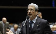 O deputado Antonio Imbassahy, líder do PSDB na Câmara, pede agilidade na votação dos embargos sobre rito de impeachment no STF Foto: Gustavo Lima / Agência Câmara / 25-2-2014