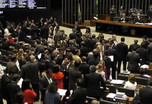 Plenário da Câmara dos Deputados em foto de arquivo Foto: Givaldo Barbosa/07-05-2015 / Agência O Globo