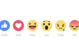 O novo cardápio de reações no Facebook Foto: Divulgação/Facebook