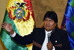 Evo Morales perdeu referendo por reformas constitucionais por margem apertada Foto: AIZAR RALDES / AFP