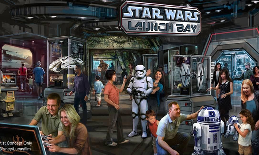Star Wars Launch Bay é outra atração que já está aberta no parque com exposições interativas Foto: Reprodução/Walt Disney World Resorts