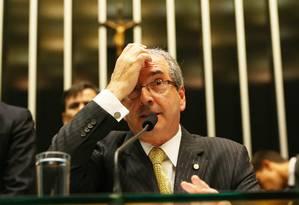 O presidente da Câmara, deputado Eduardo Cunha (PMDB-RJ) Foto: Ailton de Freitas / Agência O Globo