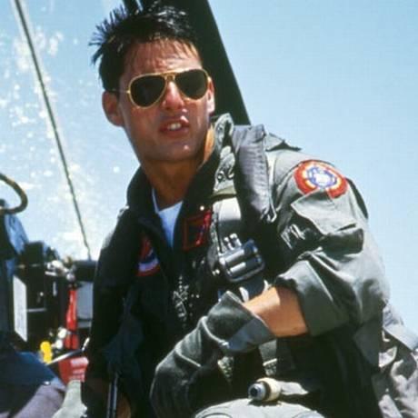 """Cena de Tom Cruise, no filme """"Top Gun"""" Foto: REPRODUÇÃO"""