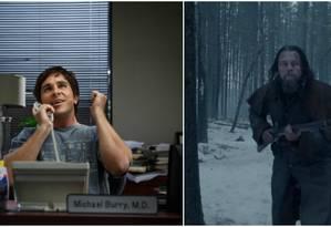 'A grande aposta' e 'O regresso' estão entre os favoritos para o Oscar de melhor filme Foto: Divulgação