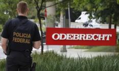 Agentes da Lava-Jato fazem buscas na sede da Odebrecht em São Paulo Foto: Edilson Dantas / Arquivo O Globo
