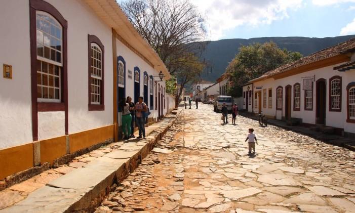 Rua em Tiradentes Foto: Eduardo Maia
