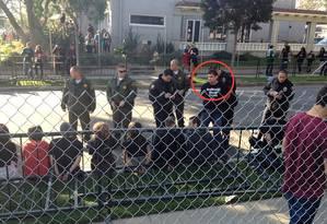 Paul McComb usava o nome de Thomas Jones para participar da PeTA. Em 2014, ele chegou a ser preso com outros manifestantes Foto: REPRODUÇÃO/PeTA
