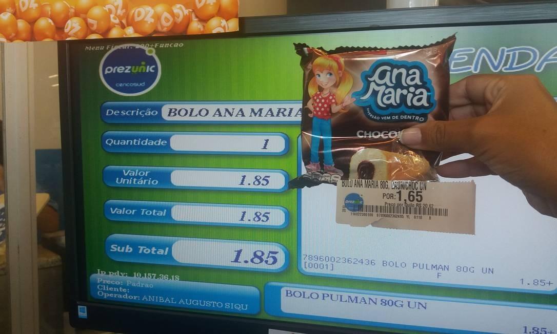 Produto apresenta preço diferente na gôndola e no caixa Foto: Divulgação/Procon RJ